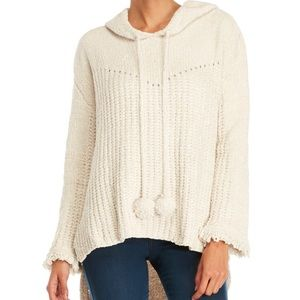 POL | White Chunky Hooded Sweater